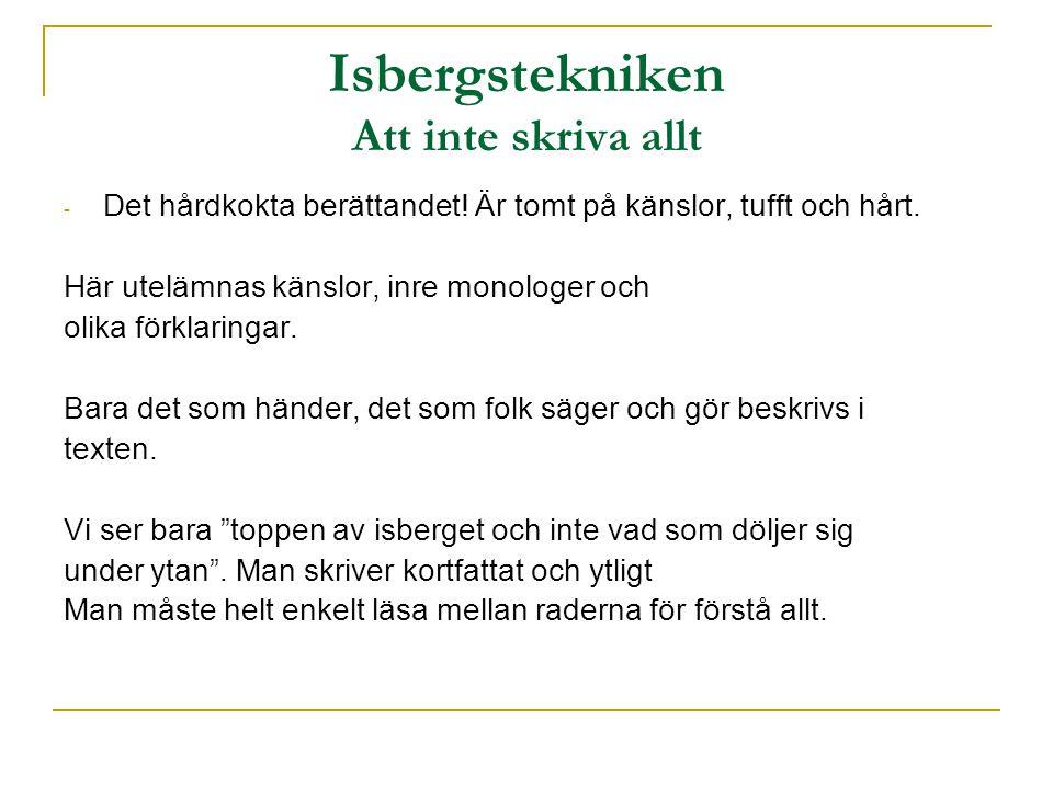 Isbergstekniken Att inte skriva allt