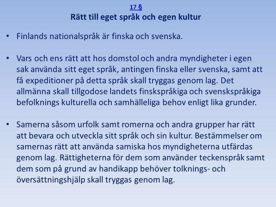 Rätt till eget språk och egen kultur