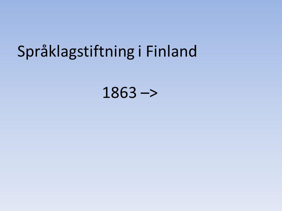 Språklagstiftning i Finland