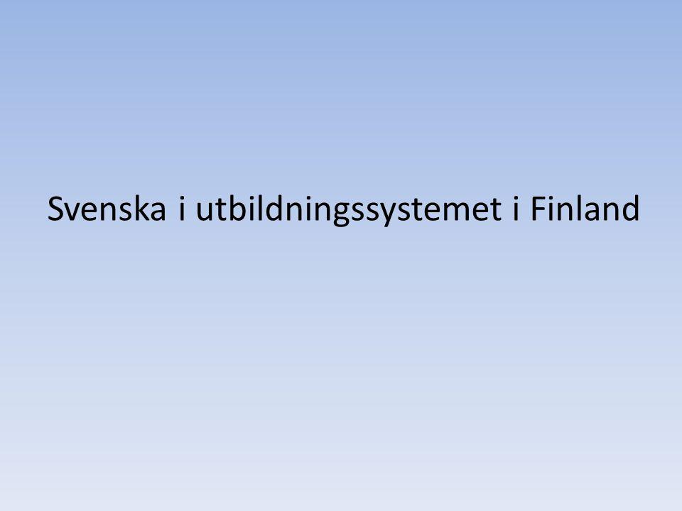 Svenska i utbildningssystemet i Finland