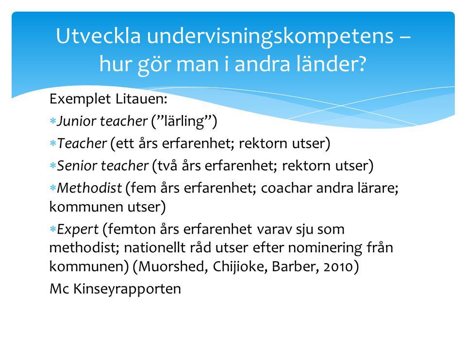 Utveckla undervisningskompetens – hur gör man i andra länder