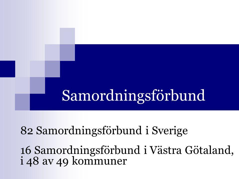 Samordningsförbund 82 Samordningsförbund i Sverige