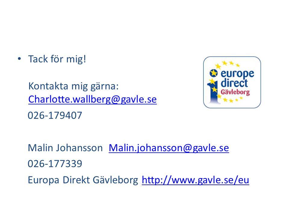 Tack för mig! Kontakta mig gärna: Charlotte.wallberg@gavle.se