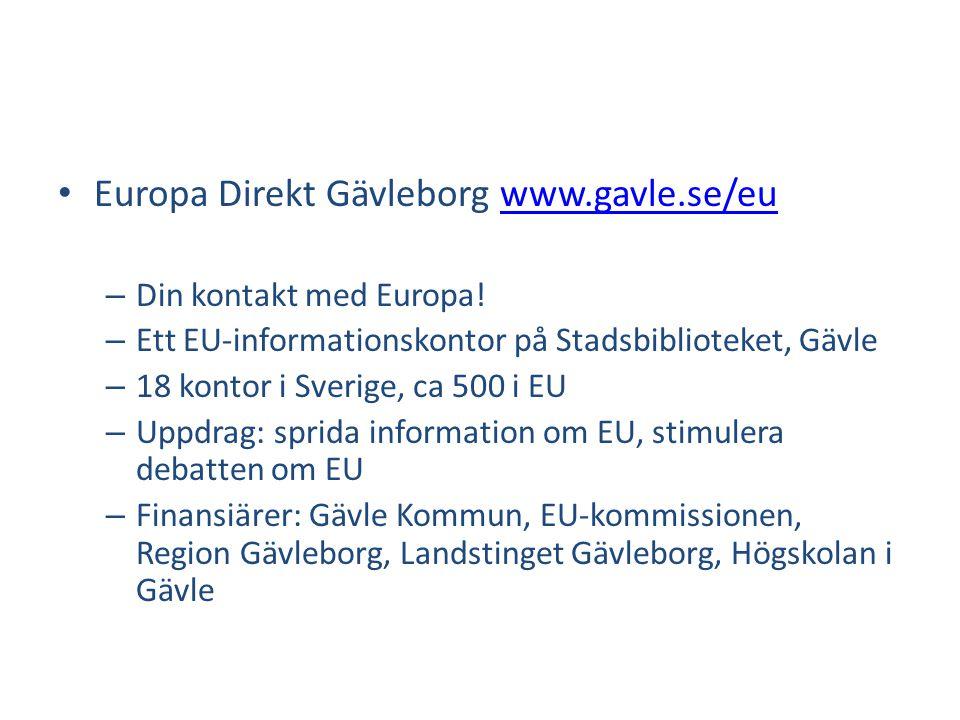 Europa Direkt Gävleborg www.gavle.se/eu