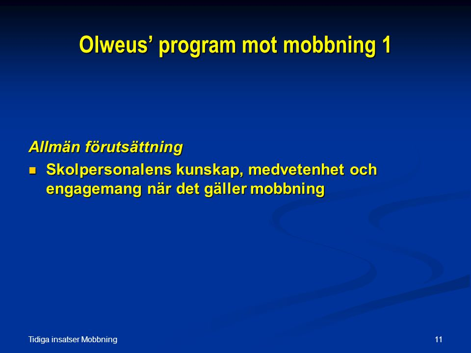 Olweus' program mot mobbning 1