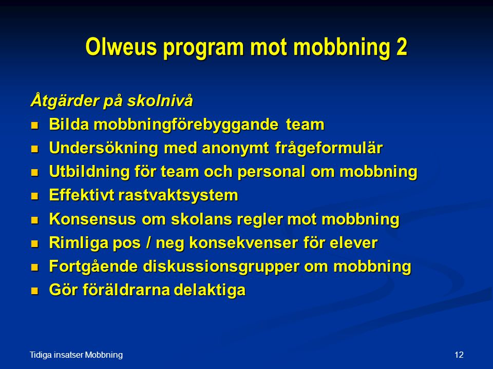 Olweus program mot mobbning 2
