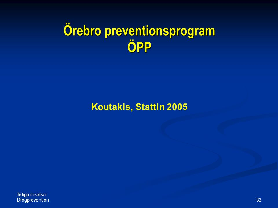 Örebro preventionsprogram ÖPP