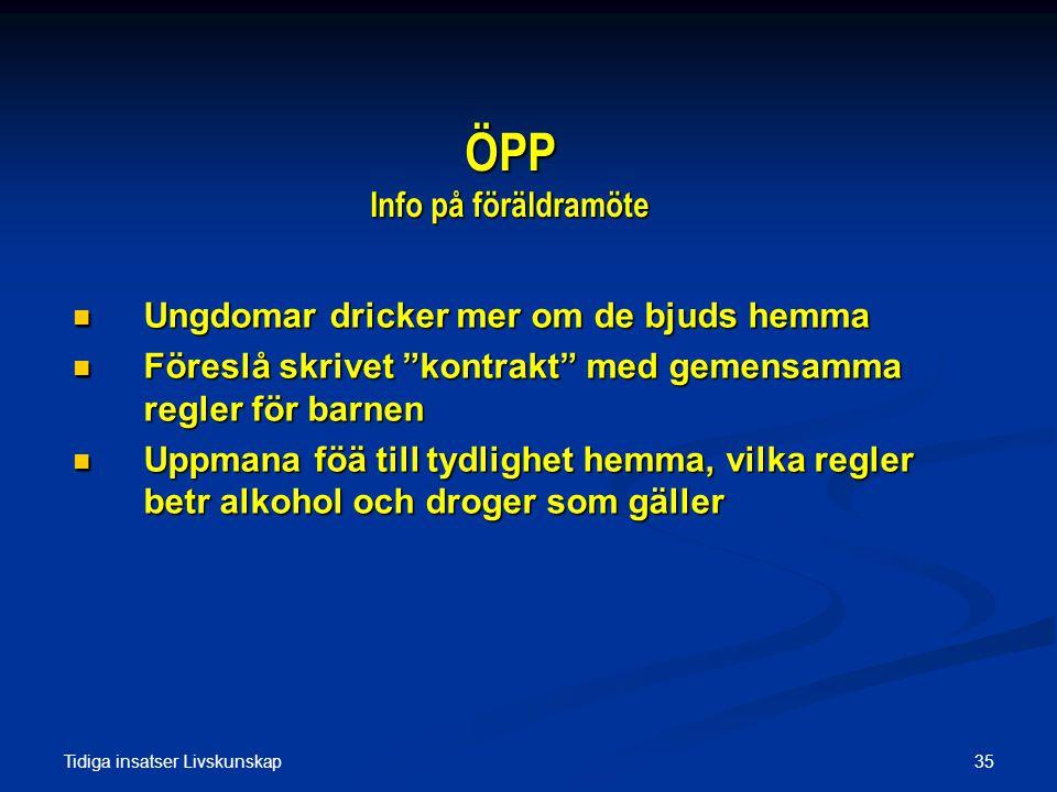 ÖPP Info på föräldramöte