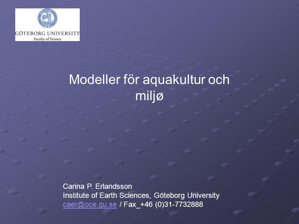 Modeller för aquakultur och miljø