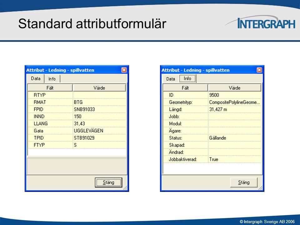 Standard attributformulär