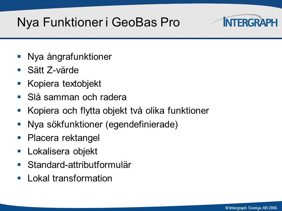 Nya Funktioner i GeoBas Pro
