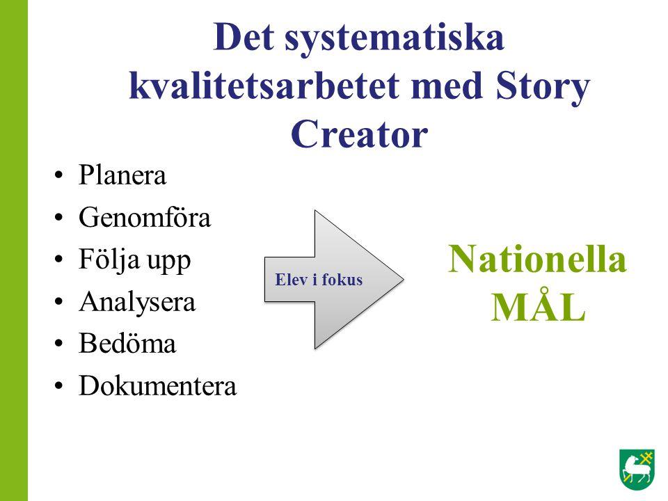 Det systematiska kvalitetsarbetet med Story Creator