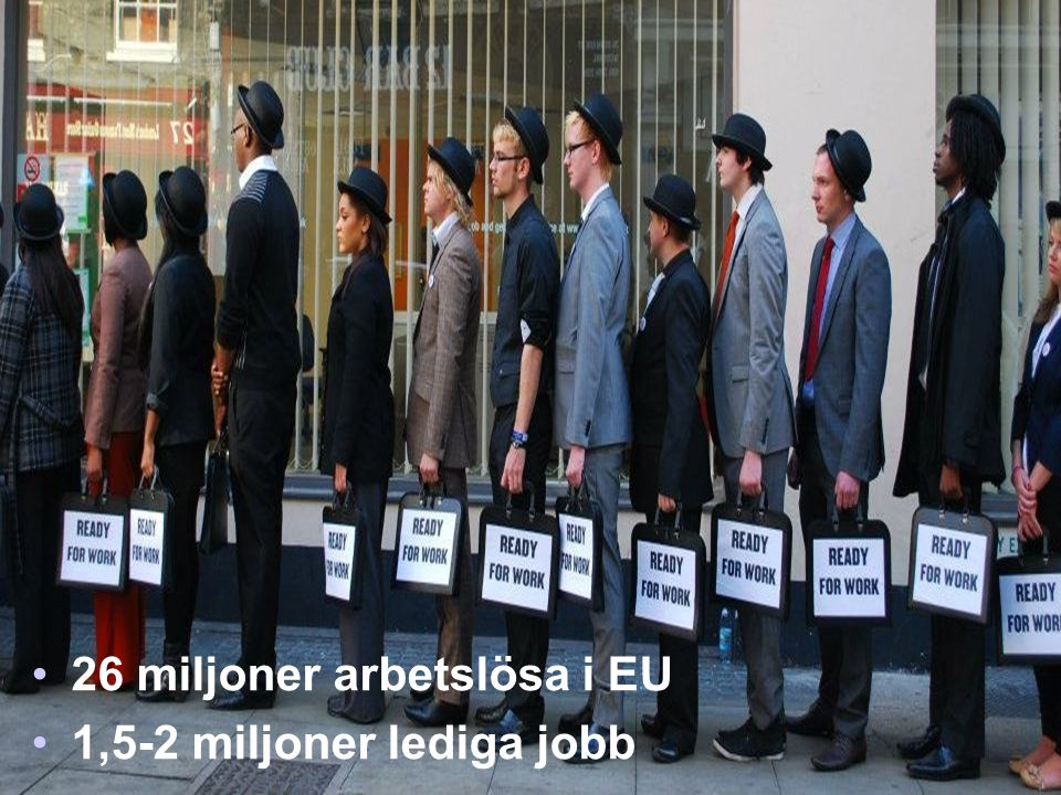 26 miljoner arbetslösa i EU