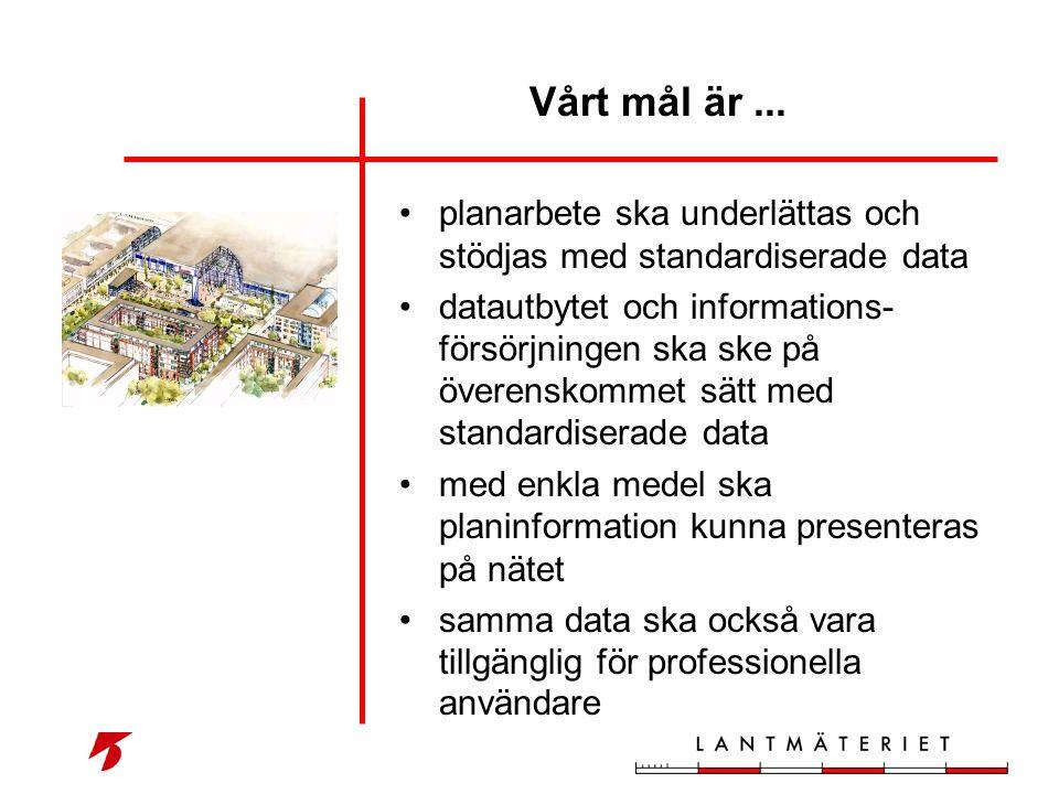 Vårt mål är ... planarbete ska underlättas och stödjas med standardiserade data.