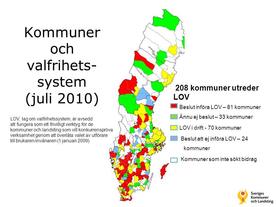 Kommuner och valfrihets-system (juli 2010)