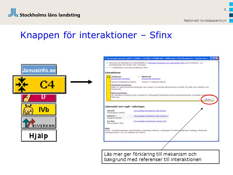 Knappen för interaktioner – Sfinx
