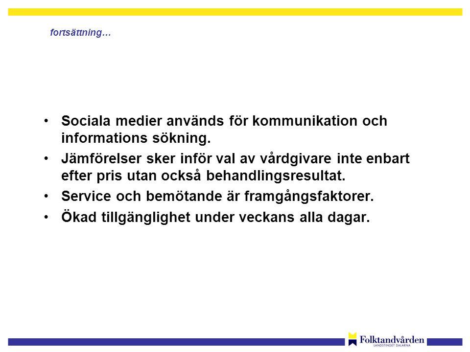 Sociala medier används för kommunikation och informations sökning.