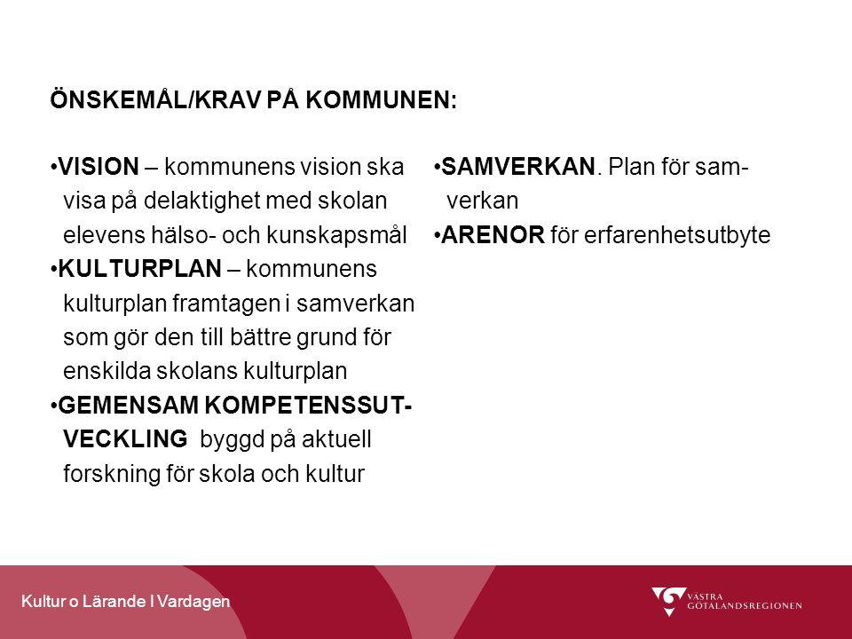 ÖNSKEMÅL/KRAV PÅ KOMMUNEN: