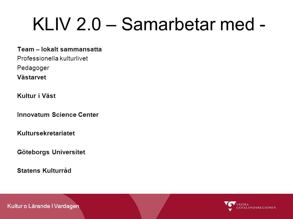 KLIV 2.0 – Samarbetar med - Team – lokalt sammansatta
