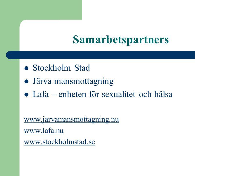 Samarbetspartners Stockholm Stad Järva mansmottagning
