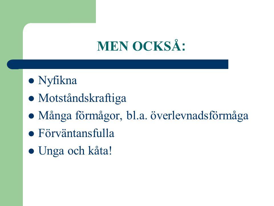 MEN OCKSÅ: Nyfikna Motståndskraftiga