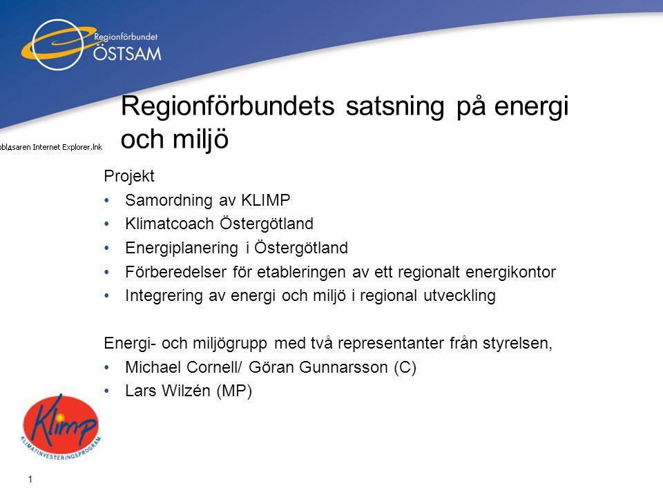 Regionförbundets satsning på energi och miljö