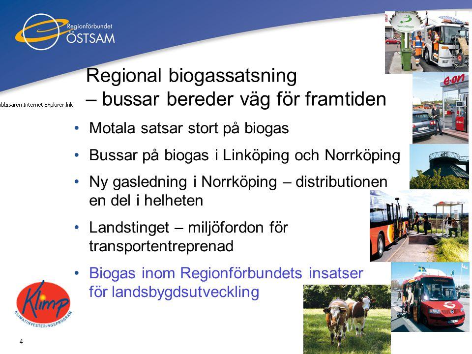 Regional biogassatsning – bussar bereder väg för framtiden