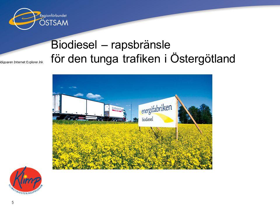 Biodiesel – rapsbränsle för den tunga trafiken i Östergötland