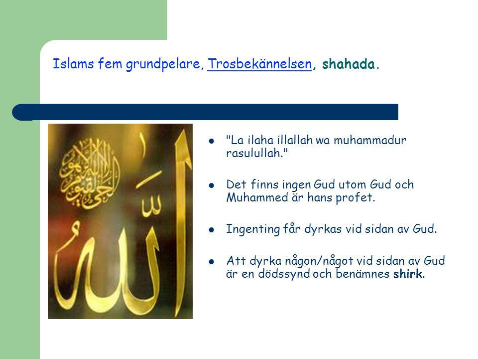 Islams fem grundpelare, Trosbekännelsen, shahada.