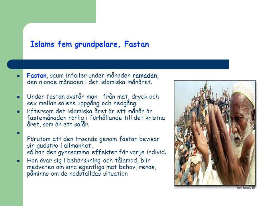 Islams fem grundpelare, Fastan