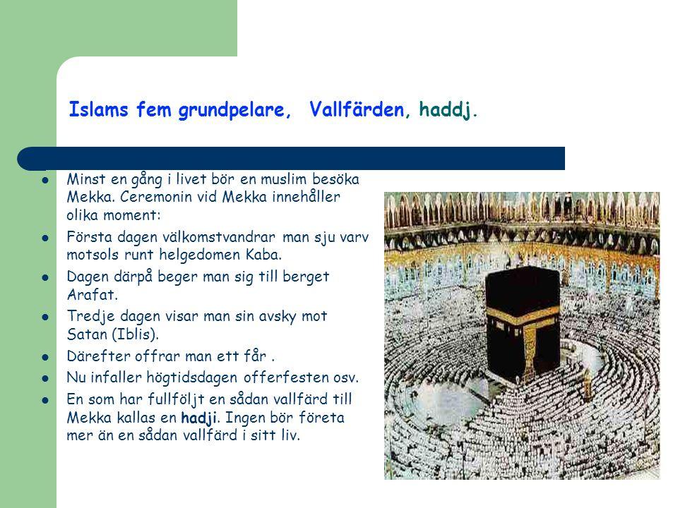 Islams fem grundpelare, Vallfärden, haddj.