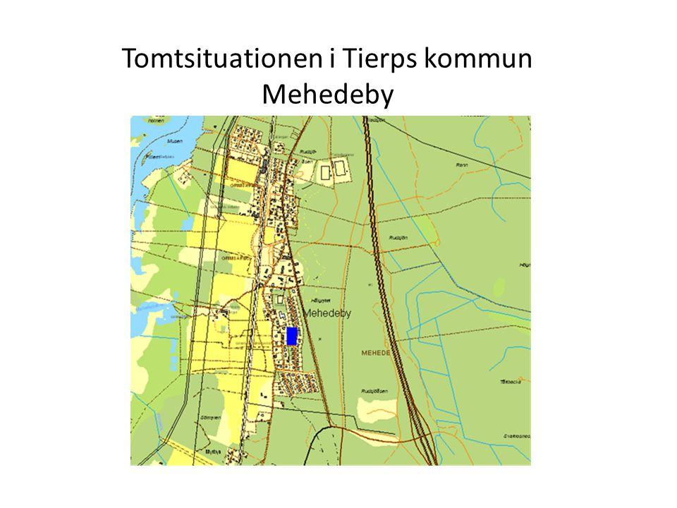 Tomtsituationen i Tierps kommun Mehedeby