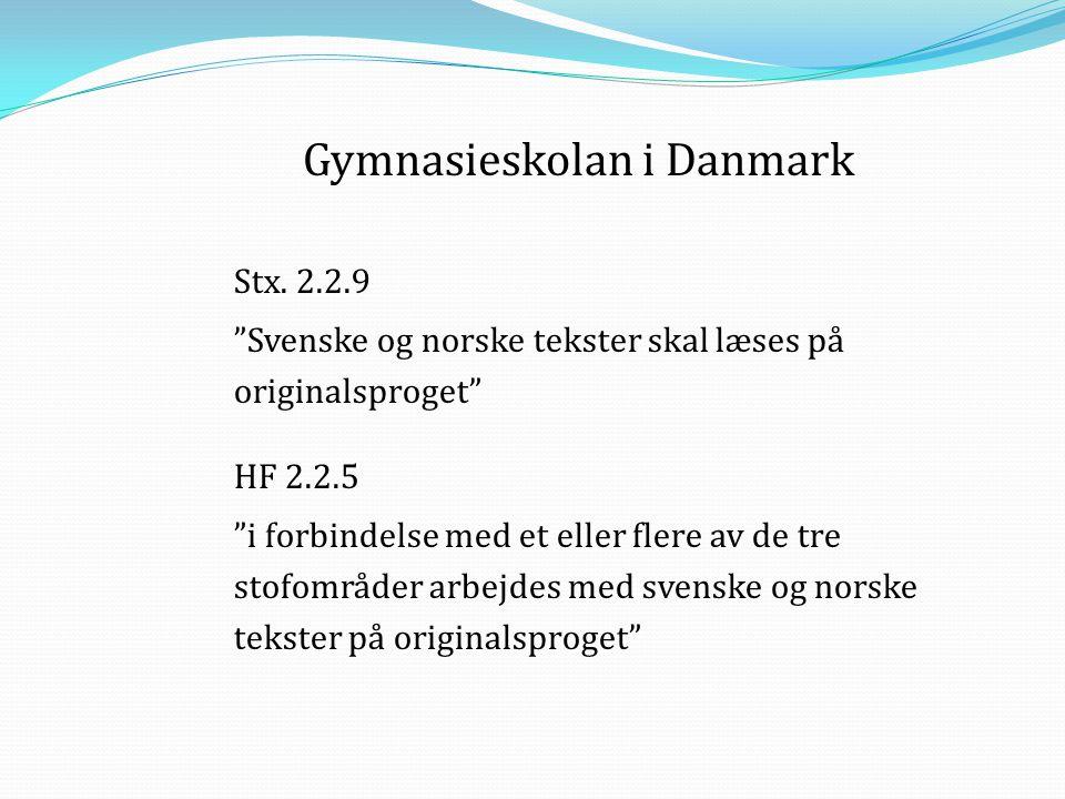 Gymnasieskolan i Danmark