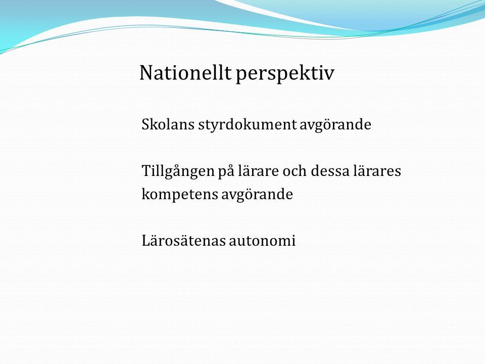 Nationellt perspektiv