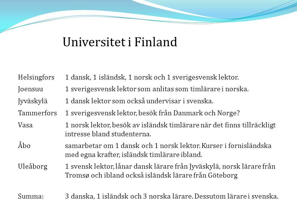 Universitet i Finland Helsingfors