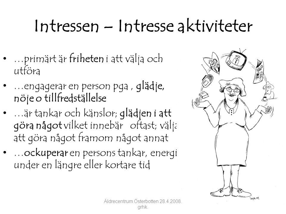 Intressen – Intresse aktiviteter