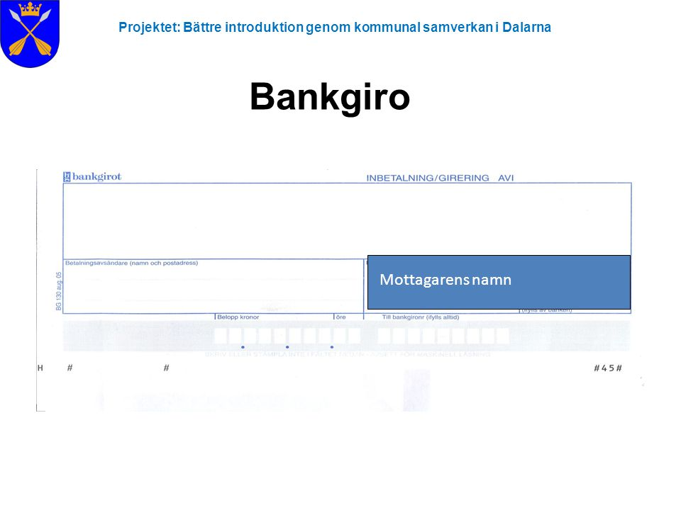 Bankgiro Mottagarens namn