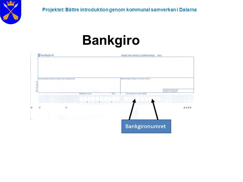 Bankgiro Bankgironumret