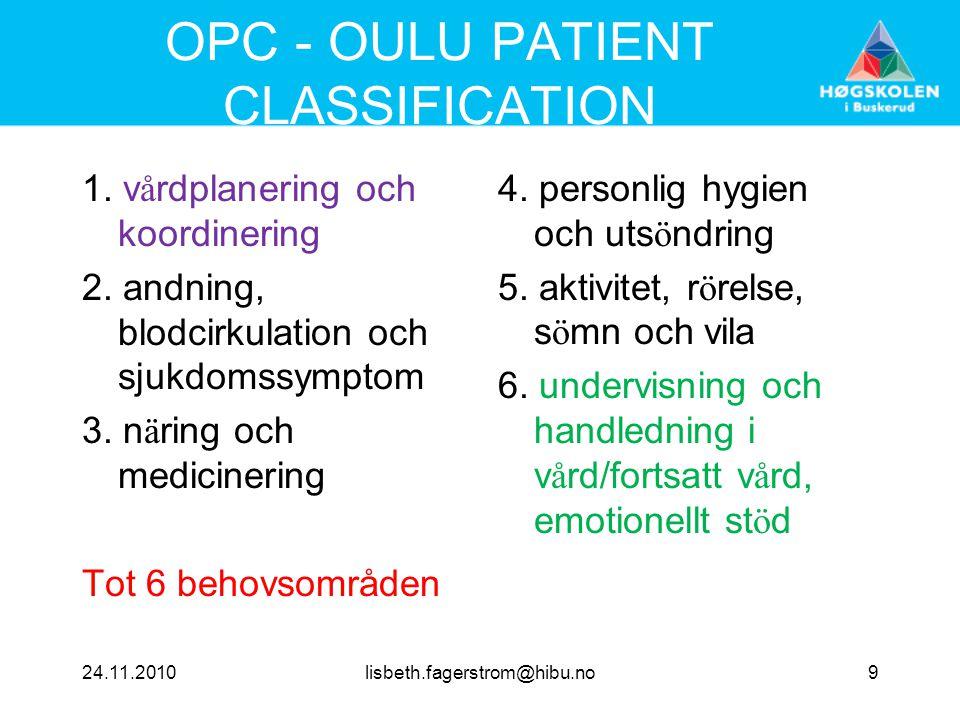 OPC - OULU PATIENT CLASSIFICATION