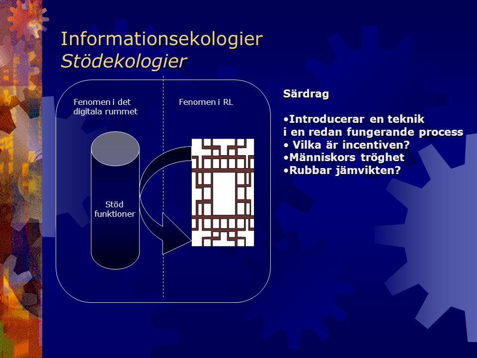 Informationsekologier Stödekologier