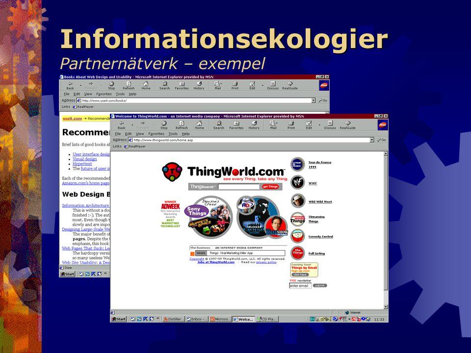 Informationsekologier Partnernätverk – exempel