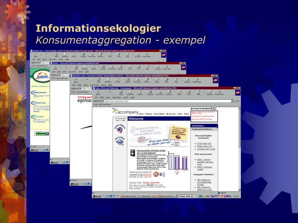 Informationsekologier Konsumentaggregation - exempel