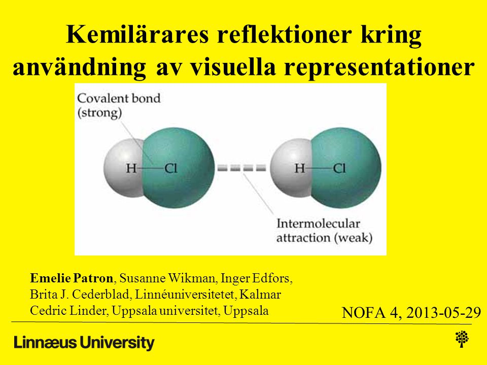 Kemilärares reflektioner kring användning av visuella representationer