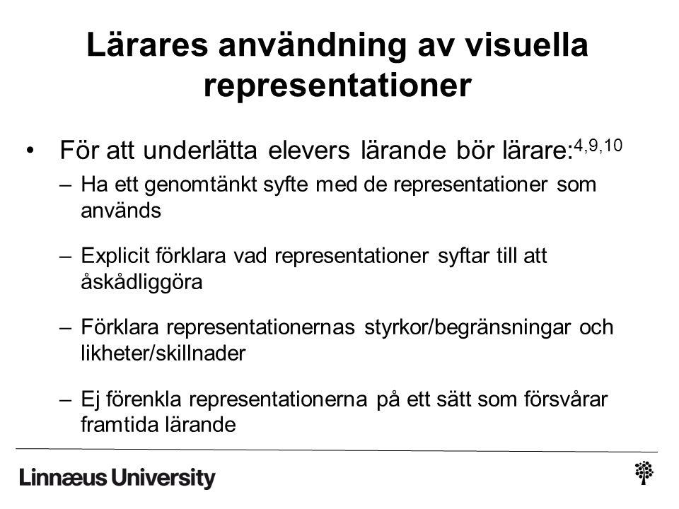 Lärares användning av visuella representationer
