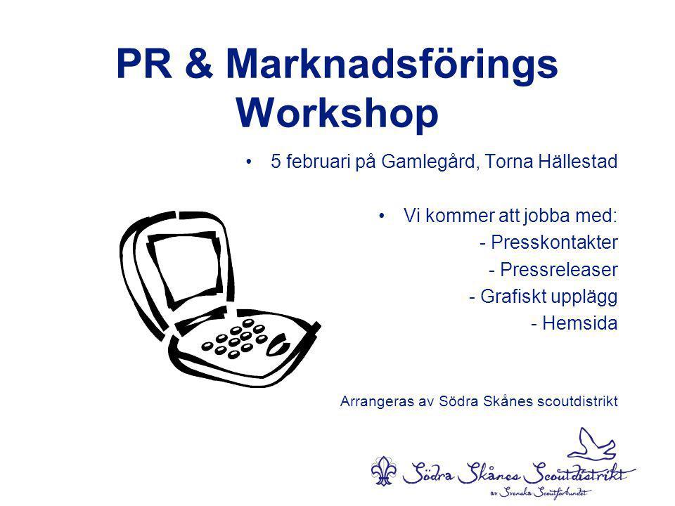 PR & Marknadsförings Workshop