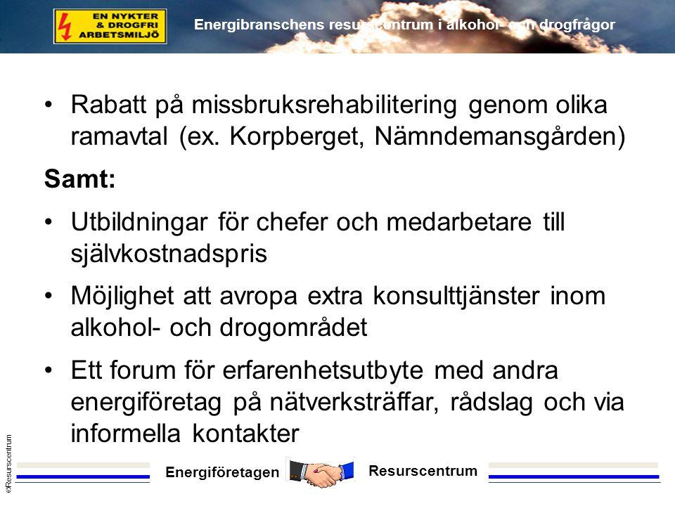 Rabatt på missbruksrehabilitering genom olika ramavtal (ex