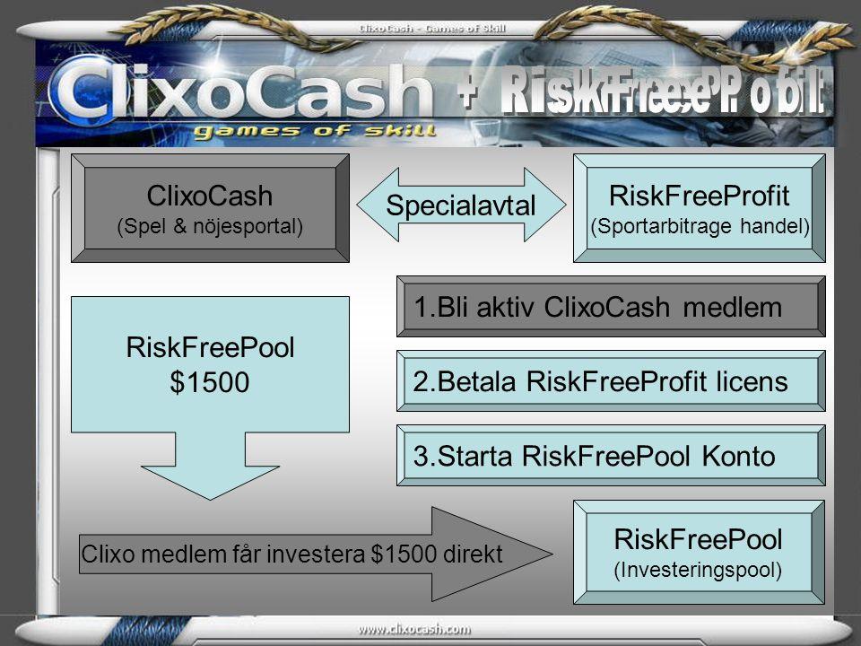 + RiskFreePool + RiskFreeProfit ClixoCash (Spel & nöjesportal)