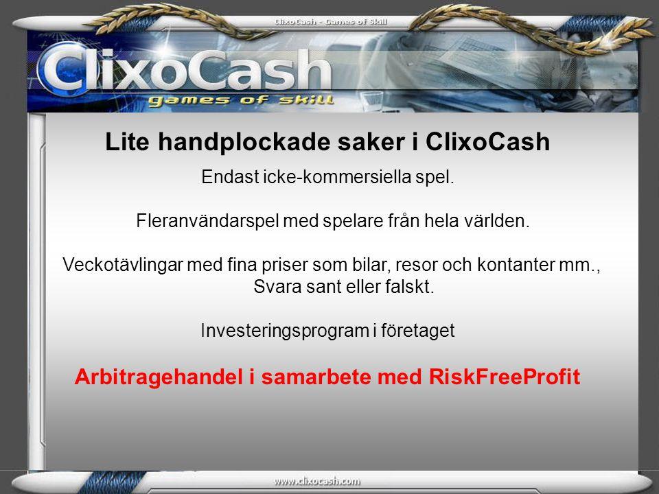 Lite handplockade saker i ClixoCash
