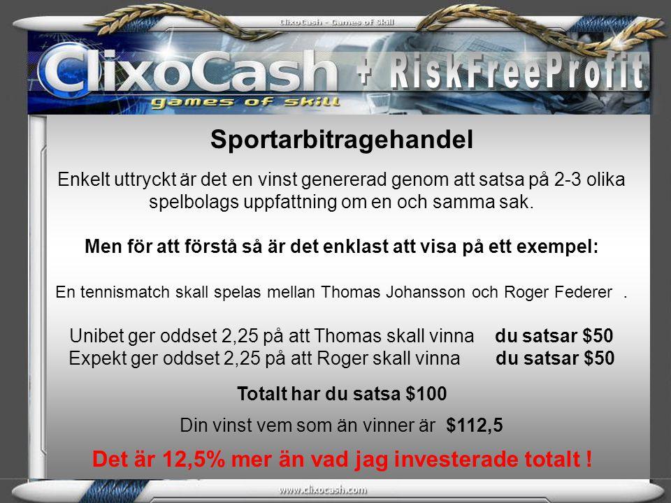 + RiskFreeProfit Sportarbitragehandel