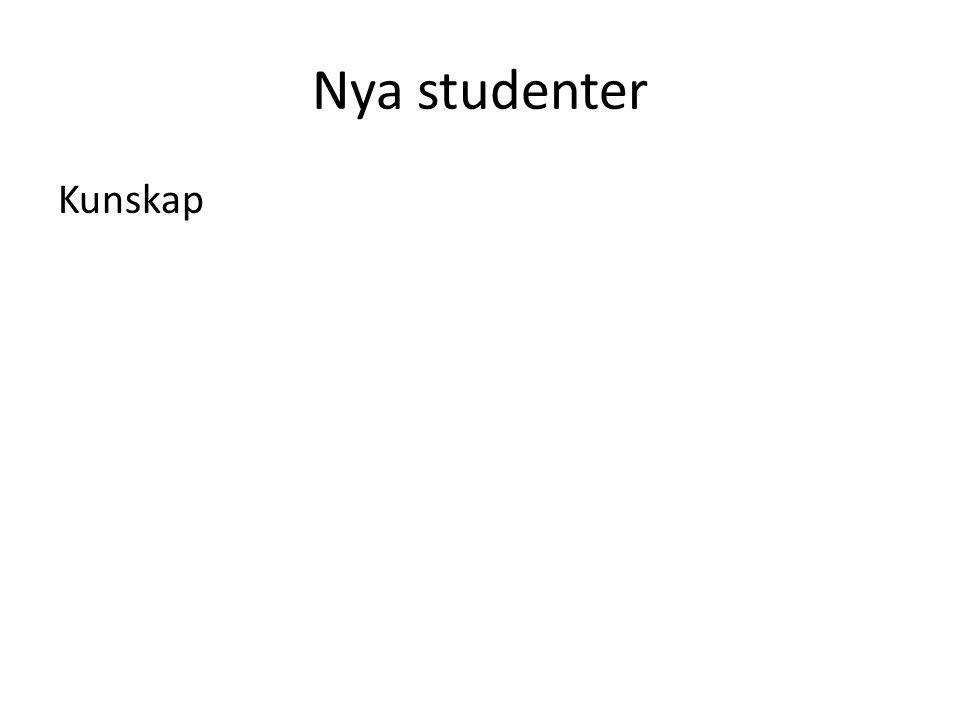 Nya studenter Kunskap